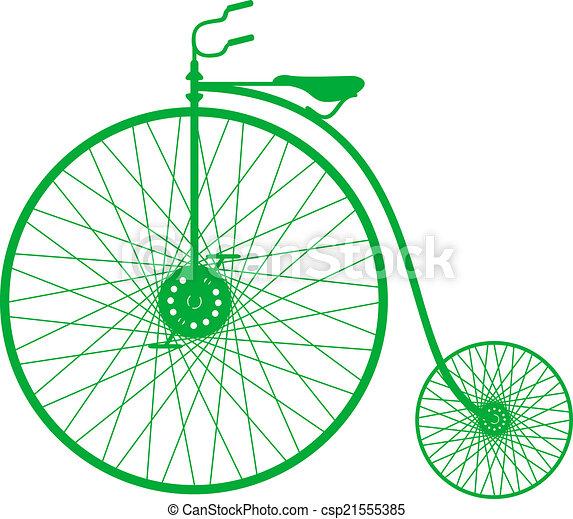 シルエット, 自転車, 型 - csp21555385