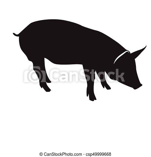 シルエット 隔離された 豚 豚 ベクトル シルエット 隔離された