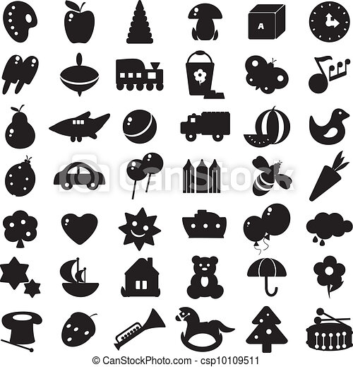 シルエット, 黒, おもちゃ - csp10109511