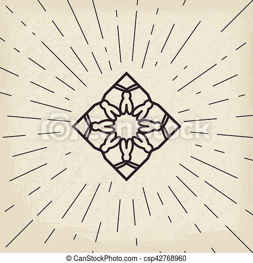 シンボル, アジア人, lotos - csp42768960