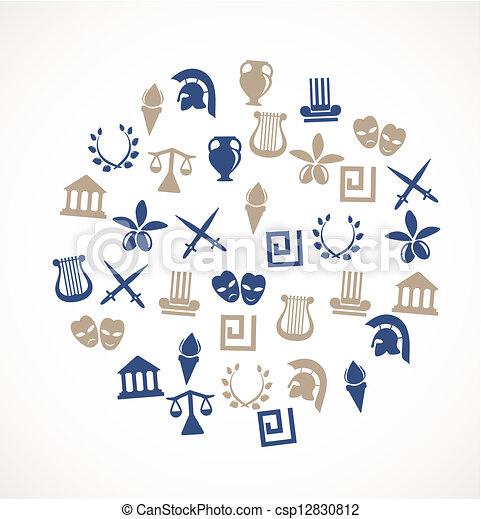 シンボル, ギリシャ - csp12830812