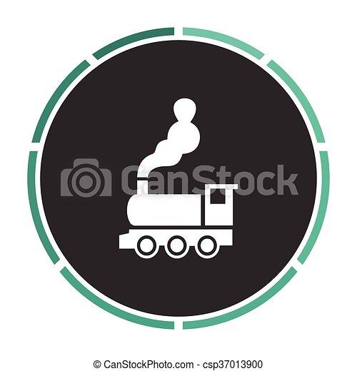 シンボル, コンピュータ, 機関車 - csp37013900