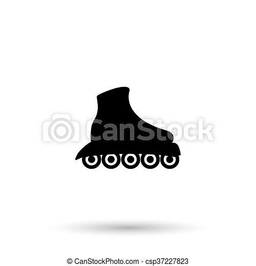 シンボル, スケート, icon., ローラー スケート - csp37227823