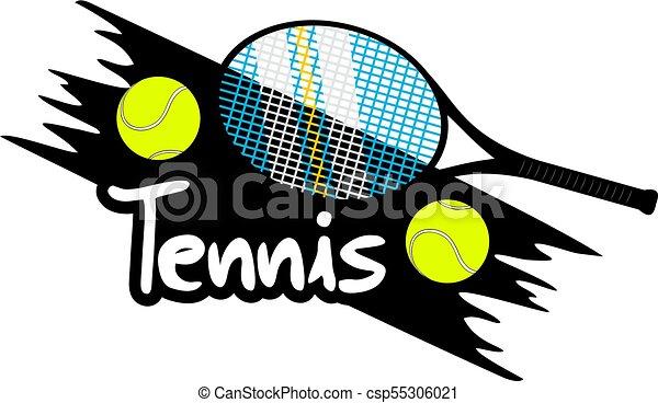 シンボル, テニス, すてきである - csp55306021