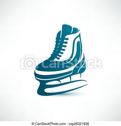 シンボル, ベクトル, アイススケートをする - csp26321936
