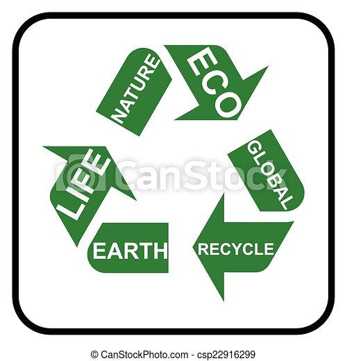 シンボル, リサイクル - csp22916299