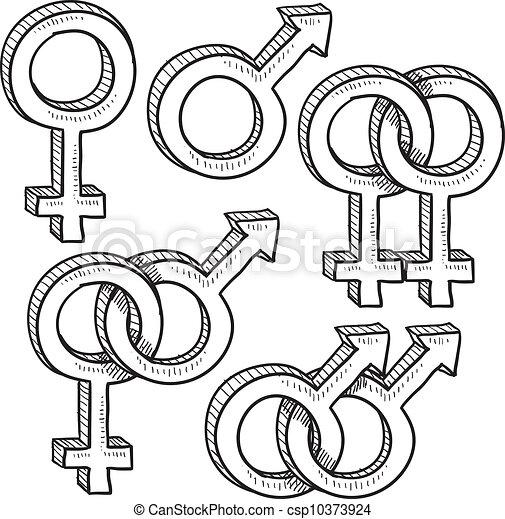 シンボル, 性, スケッチ, 関係 - csp10373924