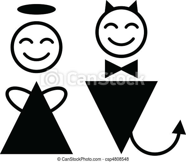 シンボル, 悪魔, 天使 - csp4808548