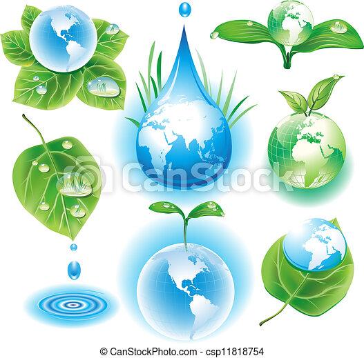 シンボル, 概念, エコロジー - csp11818754