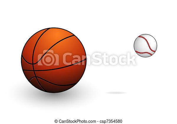 シンボル, 野球, バスケットボール, セット, スポーツ - csp7354580
