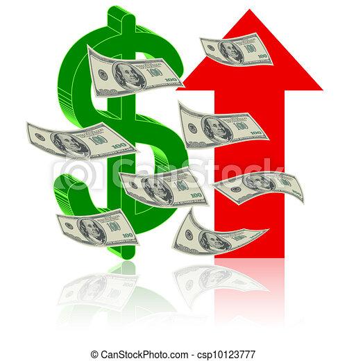シンボル, 金融, 成功 - csp10123777