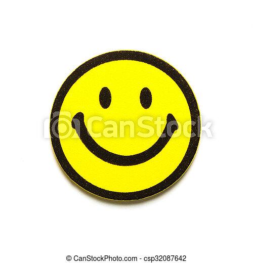 シンボル, smiley, 黄色 - csp32087642