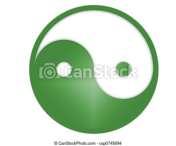 シンボル, yin yang - csp0745694