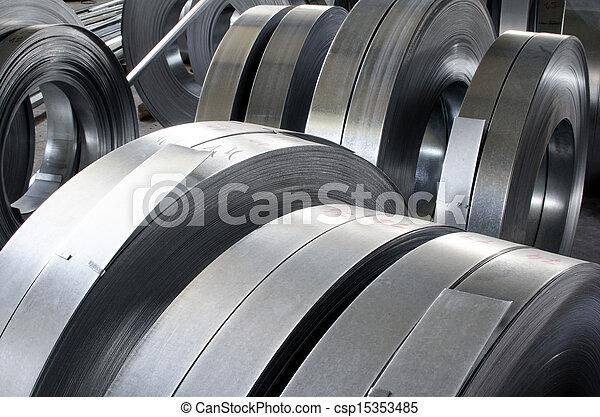 シート, 錫, 金属, 回転する - csp15353485