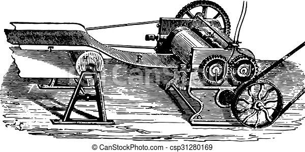 シート, engraving., 製造, 薄板にされる, 型, ゴム, シリンダー - csp31280169
