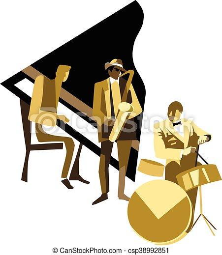 ジャズ・ミュージシャン - csp38992851