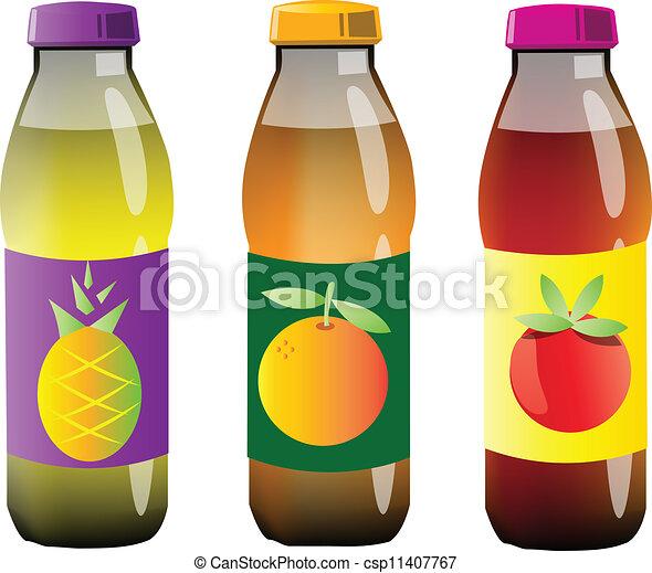 ジュース, びん, プラスチック - csp11407767