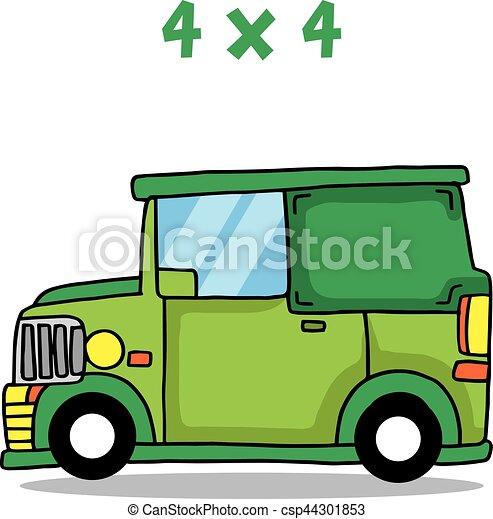ジープ 緑 コレクション 輸送 ジープ イラスト ベクトル 緑