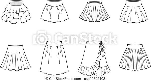 ベクトル イラスト スカート 女性