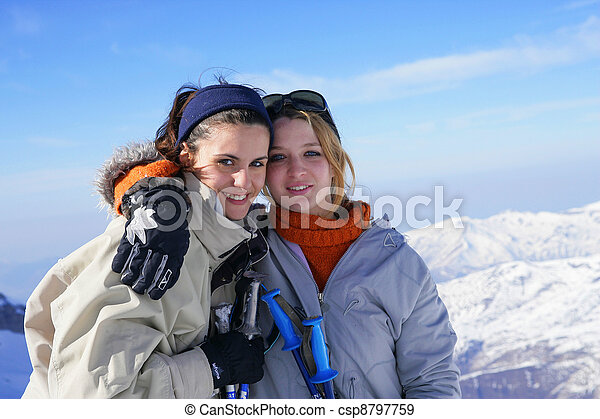 スキー, 友人, 旅行, 2 - csp8797759