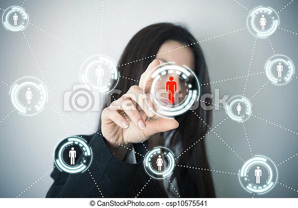 スクリーン, ネットワーク, 未来派, 社会 - csp10575541