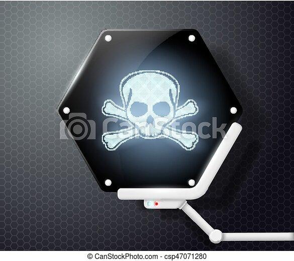 スクリーン, 未来派, 頭骨 crossbones - csp47071280