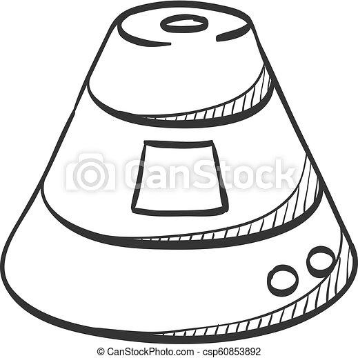 スケッチ, アイコン, -, カプセル, スペース - csp60853892