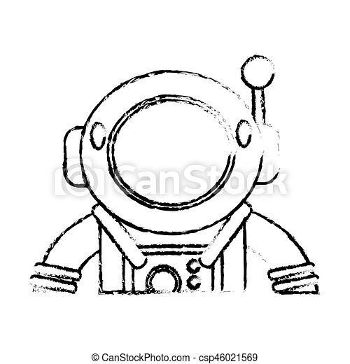 スケッチ, スーツ, 宇宙飛行士, スペース - csp46021569
