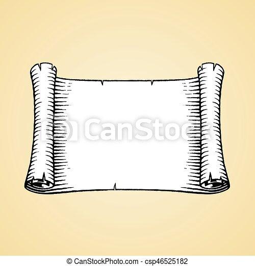 スケッチ, 古い, インク, 白, 旗, いっぱいになりなさい - csp46525182