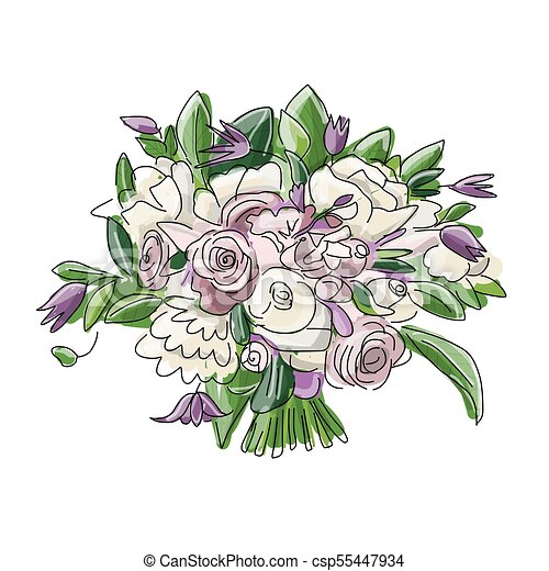 スケッチ 花束 デザイン 結婚式 花 あなたの スケッチ 花束