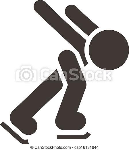 スケート, アイコン - csp16131844