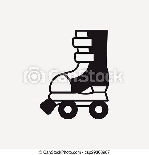 スケート, ローラー, アイコン - csp29308967