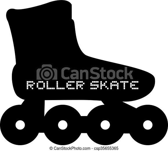 スケート, ローラー, アイコン - csp35655365