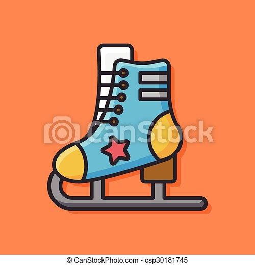 スケート, ローラー, アイコン - csp30181745