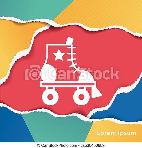 スケート, ローラー, アイコン - csp30450689