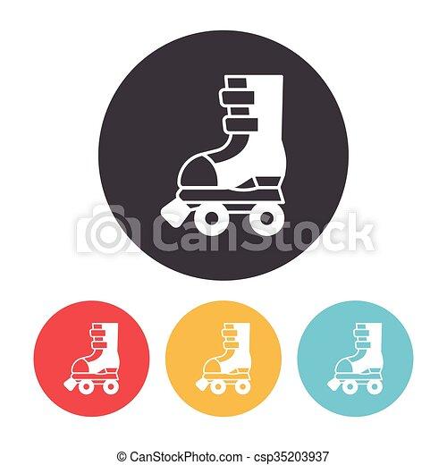 スケート, ローラー, アイコン - csp35203937
