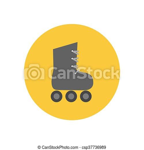スケート, ローラー, アイコン - csp37736989