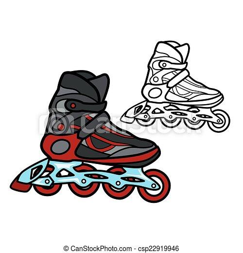 スケート, ローラー - csp22919946