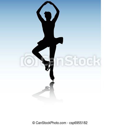 スケート, 数字 - csp6955182