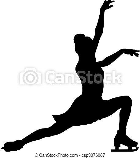 スケート, 数字 - csp3076087