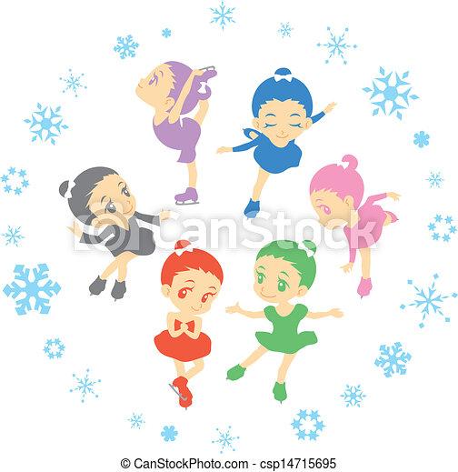 スケート, 数字 - csp14715695