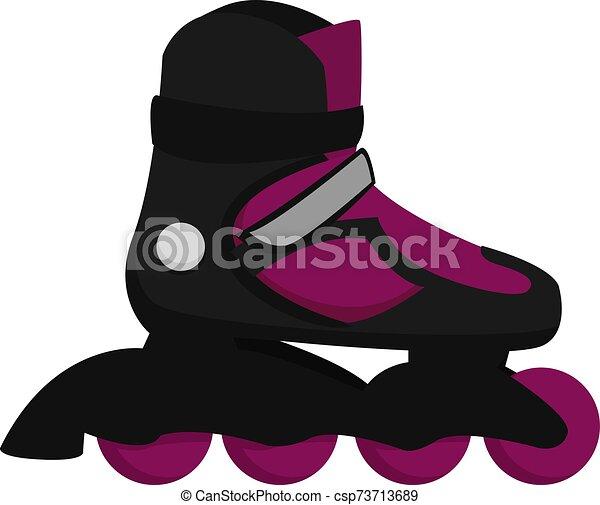 スケート, 白, イラスト, ローラー, ベクトル, バックグラウンド。 - csp73713689