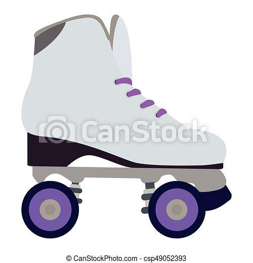 スケート, 隔離された, ローラー - csp49052393
