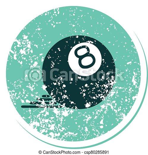 スタイル, ボール, 8, アイコン, 悲嘆させられた, 入れ墨, ステッカー - csp80285891