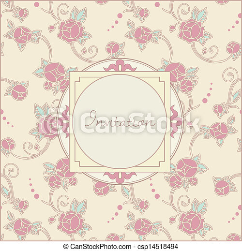 スタイル, レトロ, カード, 招待 - csp14518494