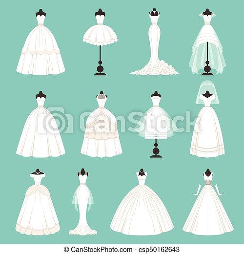 スタイル 別 花嫁 Dresses イラスト ベクトル スタイル 漫画