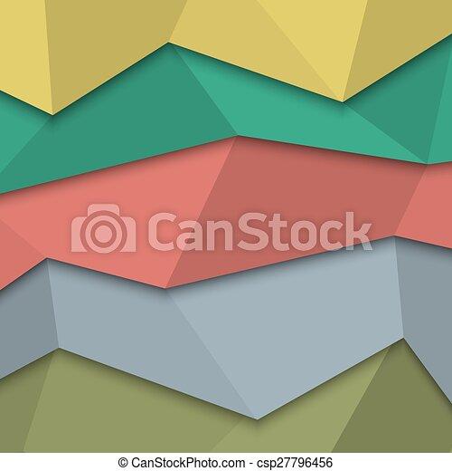スタイル, -, 創造的, デザイン, テンプレート, origami - csp27796456