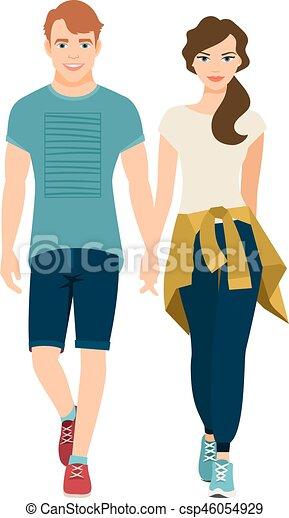 スタイル, 衣装, スポーツ, 恋人, 若い - csp46054929