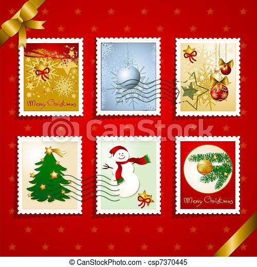 スタンプ, セット, クリスマス - csp7370445