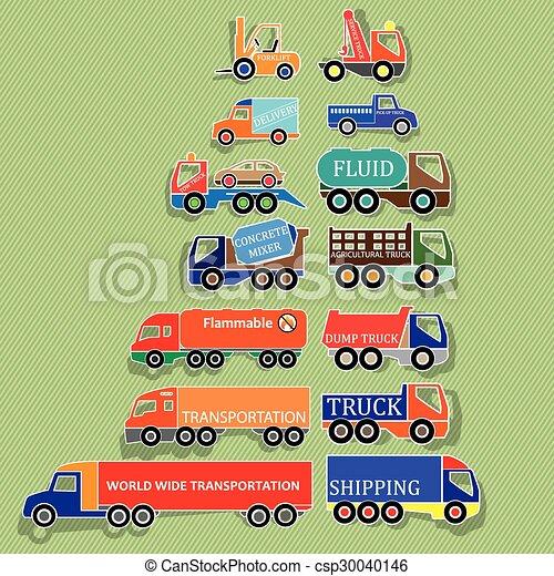 ステッカー, トラック - csp30040146